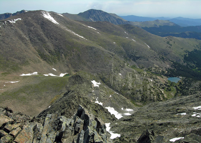 View looking east from the summit of Ypsilon Mountain.