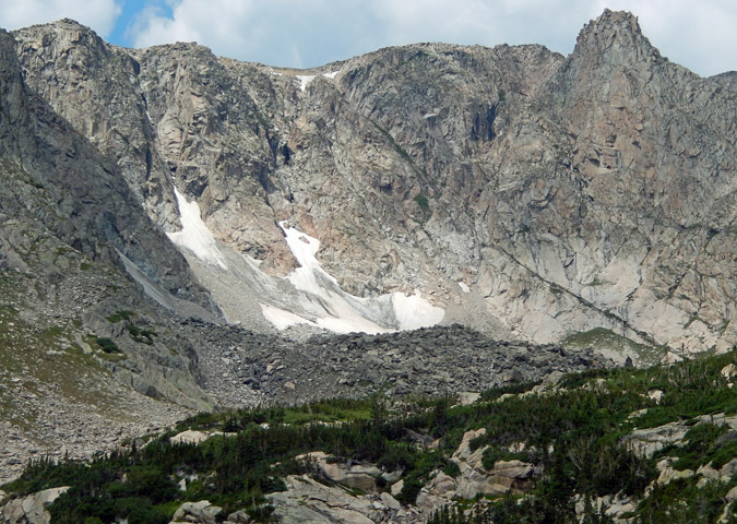 SE face of Comanche Peak, along the northern border of Rocky Mountain National Park