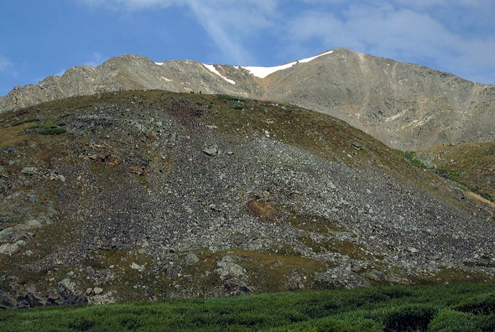 View of Grays Peak from directly below the East slopes