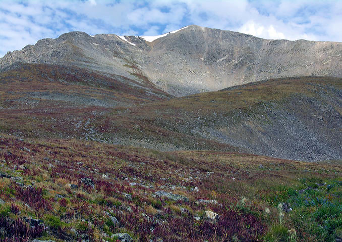 View of Grays Peak and the East Slopes, from the lower end of the slopes