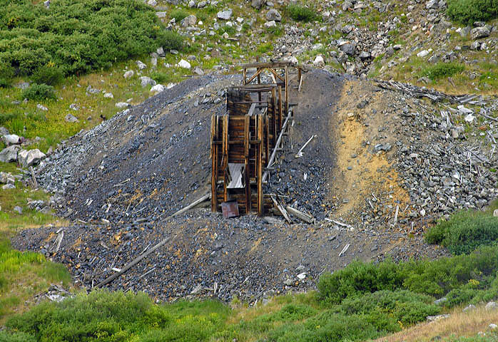 Old mine at the foot of the East Slopes of Grays Peak