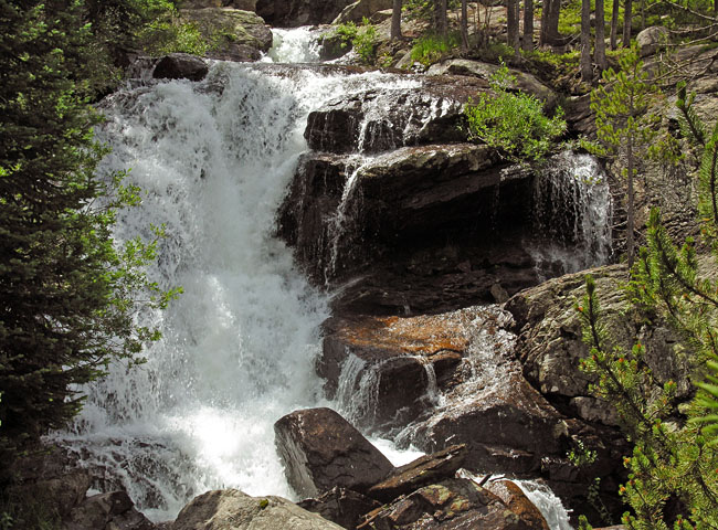 Yet another waterfall along Cascade Creek - Indian Peaks Wilderness Area, Colorado