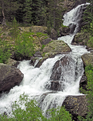 Lower Waterfall along Cascade Creek - Indian Peaks Wilderness Area, Colorado