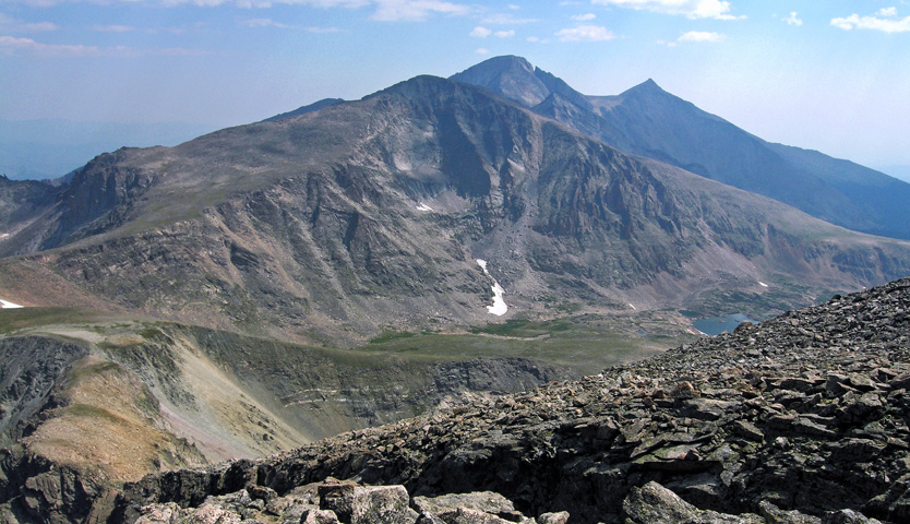 View of Chiefs Head Peak from the summit of Mount Alice