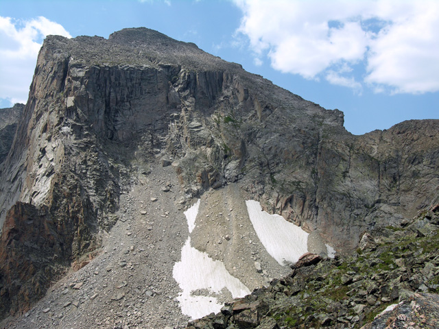 View of the north side of Mount Alice, the east face visible, along with the Hourglass Ridge