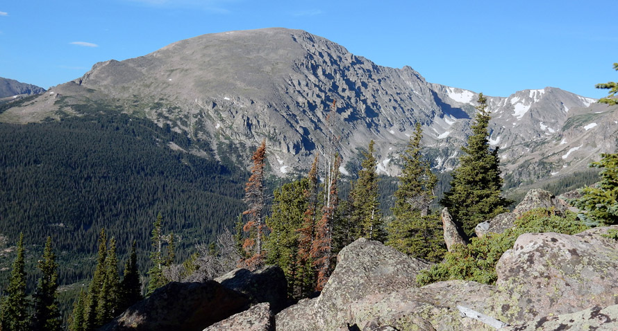 The NE slopes and the NW face of Copeland Mountain