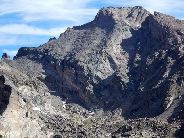 View of the rugged south side of Longs Peak from Mount Orton