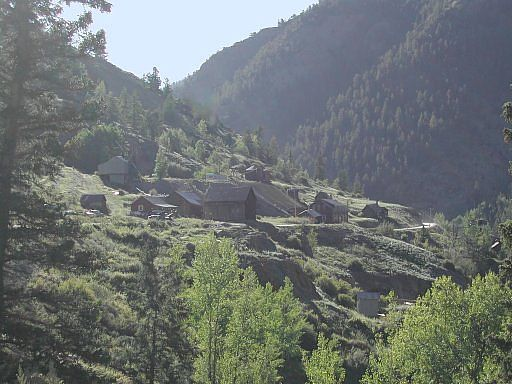 The historic Colorado Ghost town of Henson, near Lake City