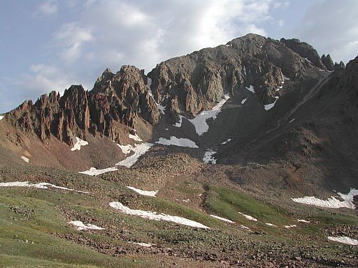 Mount Sneffels and its jagged southwest ridge