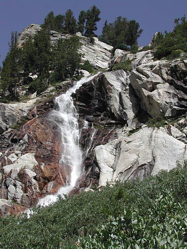Spalding Falls, up from the Meadows bivy area in Garnet Canyon, Teton National Park