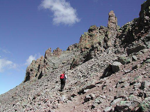 Ascending Uncompahgre Peak, within 15 minutes of the summit