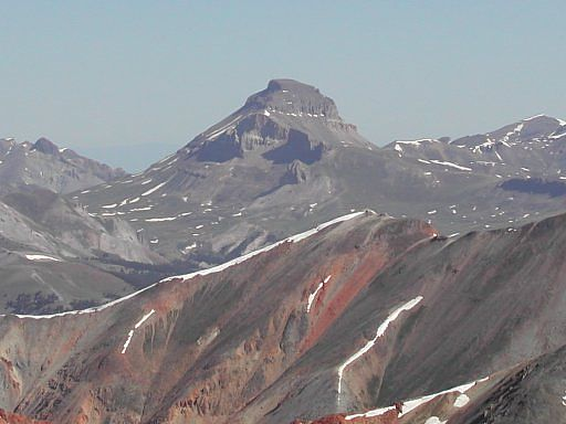 View of Uncompahgre Peak from the top of Red Cloud Peak