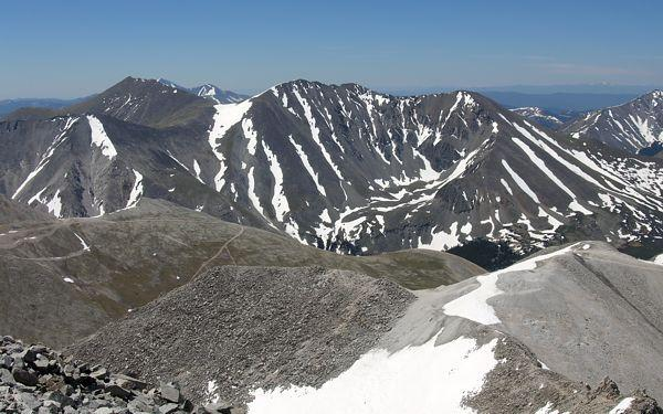 Mount Shavano and Tabeguache Peak, taken from the summit of Mount Antero
