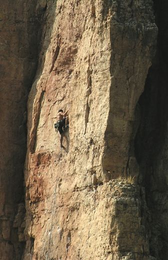 Unknown climber on the southeast side of Menses Prow in the Gallery