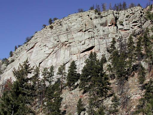 Combat Rock, in the Big Thompson Canyon area, between Loveland and Estes Park, Colorado