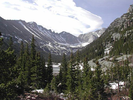 Glacier Gorge, as seen from Mills Lake - Rocky Mountain National Park