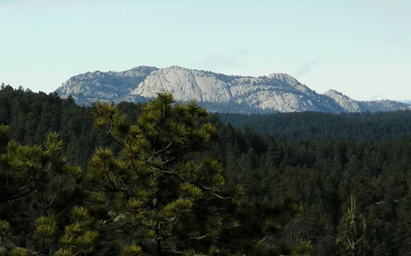 Shot of Greyrock from the Spring Creek Trail, in the Horsetooth Mountain Park