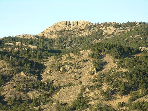 Horsetooth Rock, as seen from the east side of Horsetooth Reservior