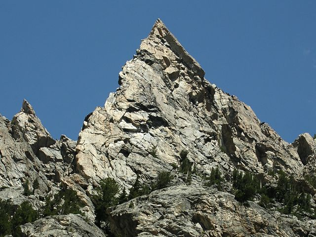 Irene's Arete of Disappointment Peak in Garnet Canyon, Teton National Park