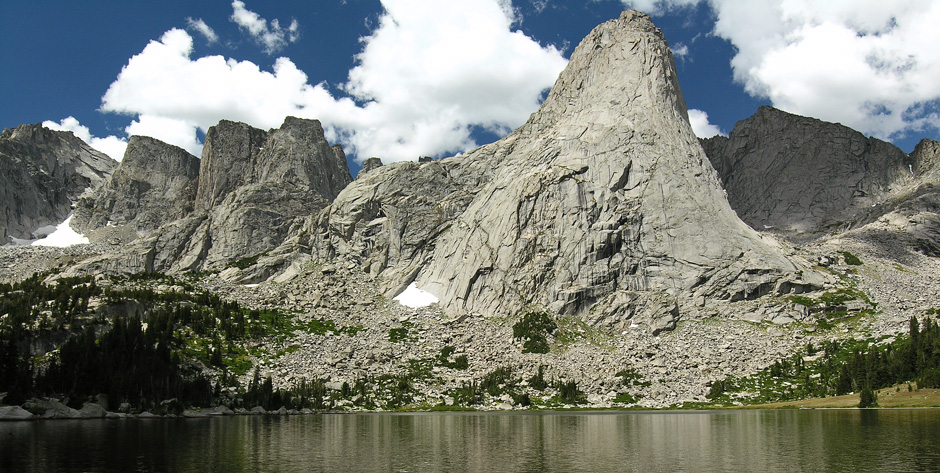 Pingora Peak across Lonesome Lake, Cirque of the Towers, Wind River Range