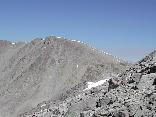 Tabaguache Peak, from the upper East Slopes Route on the southwest side of Mount Shavano