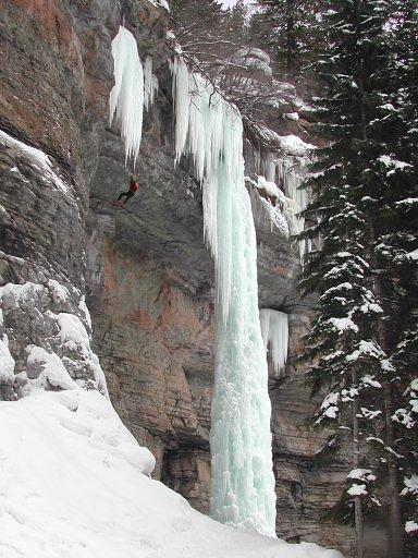 The Fang; the most well know and photographed ice climb, found in the Rigid Designator area, at Vail
