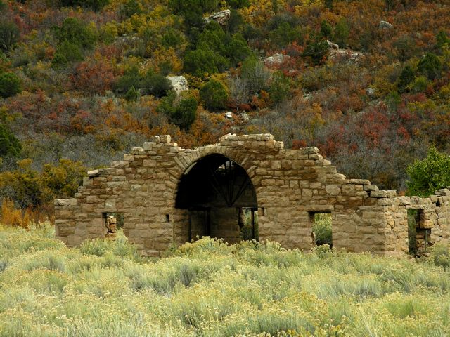 Driggs Mansion ruins in Unaweep Canyon