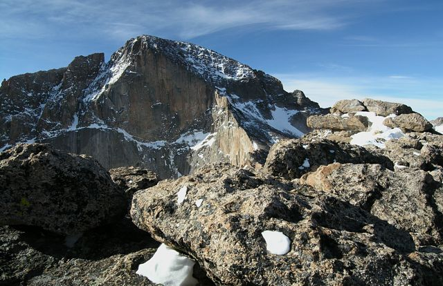 Diamond of Longs Peak, from the summit of Mt lady Washington