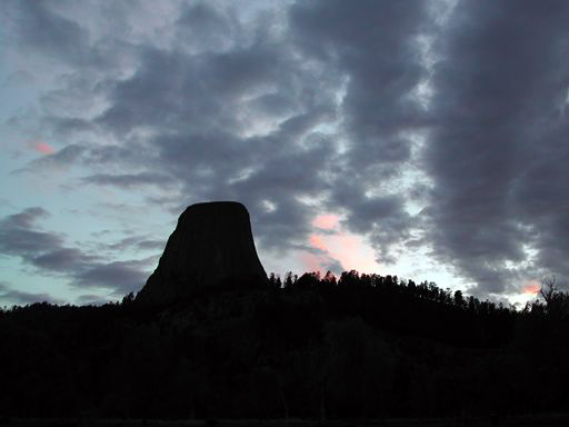 Sleepy late evening shot of Devils Tower, taken by Suzy, May 29th, 2005